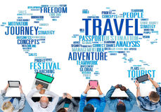 Travel Explore Global Destination Trip Adventure Concept Royalty Free Stock Images