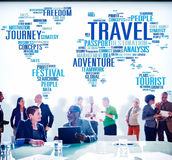 Travel Explore Global Destination Trip Adventure Concept Royalty Free Stock Image