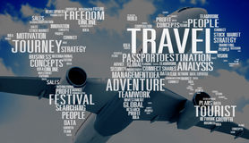 Travel Explore Global Destination Trip Adventure Concept Stock Photography