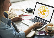 Travel Explore World Journey Stamp Concept Stock Image