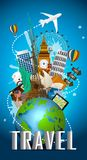 Travel famous monument of the world. Icon. Illustration of Travel famous monument of the world. Icon stock illustration