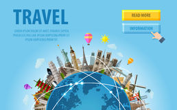 Travel. famous monuments of the world Royalty Free Stock Image