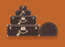 Travel fashion stylish suitcases Stock Images