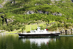 Travel on a ferry boat in Lysefjord Stock Photography