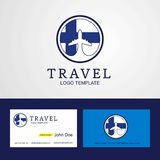 Travel Finland Creative Circle flag Logo and Business card desig. N - This Vector EPS 10 illustration is best for print media, web design, application design stock illustration