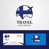 Travel Finland Flag Logo and Visiting Card Design. This Vector EPS 10 illustration is best for print media, web design, application design user interface and vector illustration