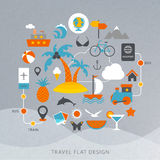Travel flat design illustration Royalty Free Stock Photo