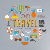 Travel flat design illustration Stock Image