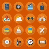 Travel Flat Icon Set Stock Photography