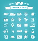 Travel Flat Icon Set Royalty Free Stock Images