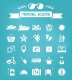 Travel Flat Icon Set Royalty Free Stock Images