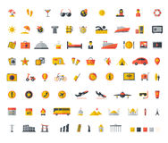 Travel flat icon set Royalty Free Stock Photos