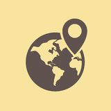 Travel Flat Icon Royalty Free Stock Images