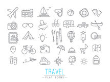 Travel flat icons Royalty Free Stock Photos