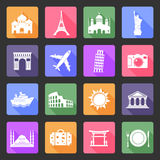 Travel flat icons Stock Photos