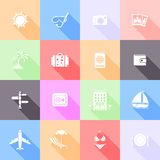 Travel flat icons Stock Photography