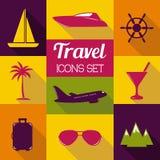 Travel flat icons set. Stock Image