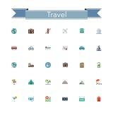 Travel Flat Icons Stock Photos
