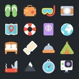 Travel Flat Icons Royalty Free Stock Photography