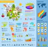 Travel flat infographic Royalty Free Stock Photos