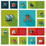 Travel flat ui background set. Vector illustration file stock illustration