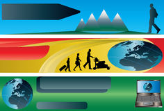 Travel Flavoured Banners Stock Photos