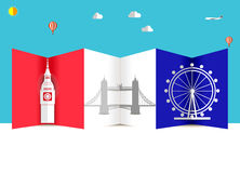 Travel and Flights background for tourist, holidays and vacation, america, london travel background Stock Photography