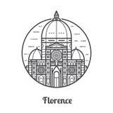 Travel Florence Icon Stock Photos