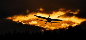 Travel, Fly, Aircraft, Sky, Sunset Stock Photos