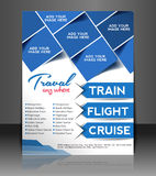 Travel Flyer. Magazine Cover & Poster Template Royalty Free Stock Photos