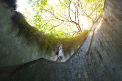 Travel at Fort canning in Singapore. stock image