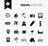 Travel fresh icon set. Stock Photo