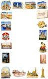 Travel fridge magnet frame Stock Images