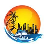 Travel fun logo Stock Images