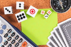 Travel Gambling plans and strategies. Stock Photo