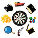 Travel and games icons Royalty Free Stock Image