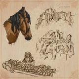 Travel: Georgia - An hand drawn vector pack Stock Photos