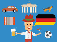Travel German concept. German traditions and culture illustration. Royalty Free Stock Photography