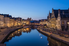 Travel Ghent Town in Belgium Royalty Free Stock Images