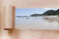 Travel gift wrapper Stock Photos