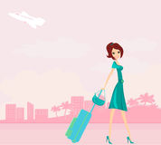 Travel girl Royalty Free Stock Images