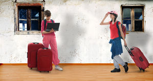 Travel girls Stock Image