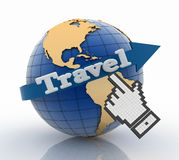 Travel globe and vacation concept Stock Image