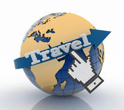 Travel globe and vacation concept Royalty Free Stock Photo