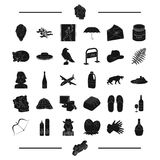 Travel, Greece, antiquity and other web icon in black style. alcohol, animal icons in set collection. Travel, Greece, antiquity and other  icon in black style Royalty Free Stock Photography