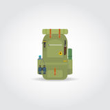 Travel green backpack Royalty Free Stock Photos