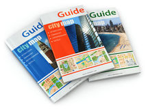 Travel guide books. Royalty Free Stock Images