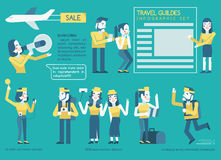 Travel guides Infographic set Royalty Free Stock Photos