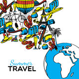 Travel Hand Drawn Illustration Stock Images