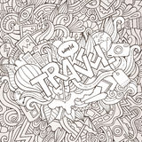 Travel hand lettering and doodles elements Stock Images